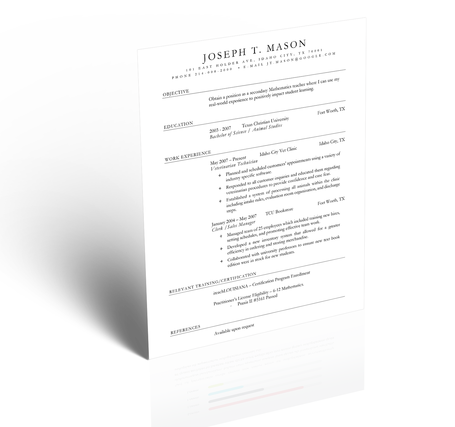Teacher resume 5 minute guide to writing the perfect resume then keep scrolling down the page for a step by step breakdown of how to fill out each section of the teacher resume xflitez Gallery