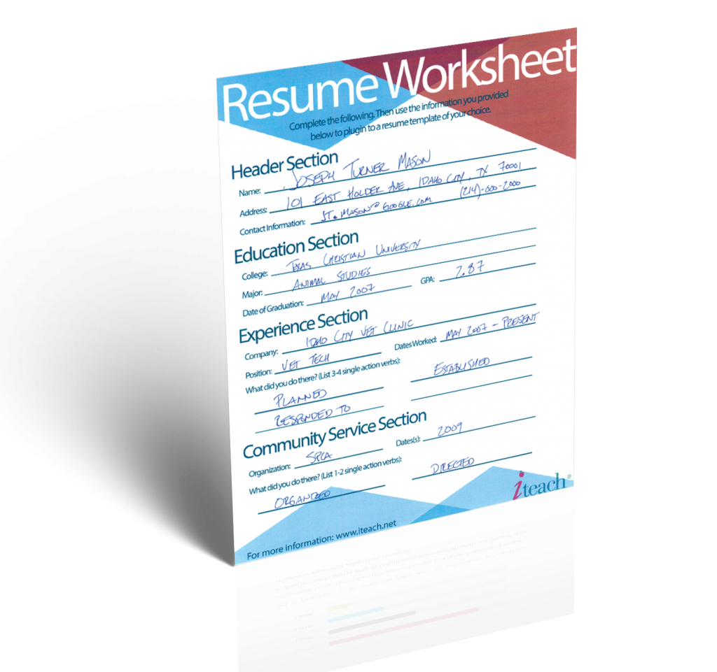 Teacher Resume   Minute Guide To Writing The Perfect Resume