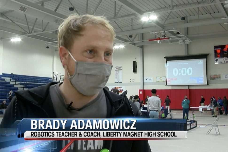 Brady Adamowicz teacher in Louisiana iteach course completer stem robotics teacher